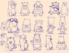 Ideas Funny Illustration Art Character Design For 2019 Children's Book Illustration, Character Illustration, Illustrator, Cartoon Sketches, Cartoon Art, Cartoon Memes, Bear Cartoon, Cartoon Design, Poses References
