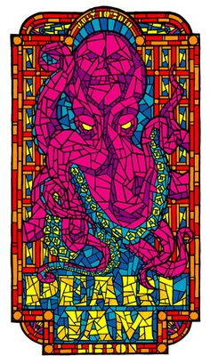 Pearl Jam Concert Poster by Ames Bros