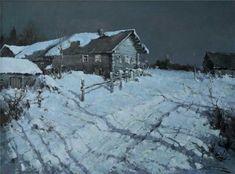 Alexander Kremer, Russian, Moonlight Night, oil on canvas