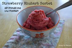 Strawberry Rhubarb Sorbet - Paleo, AIP, Low-FODMAP, and SCD - Gutsy By Nature