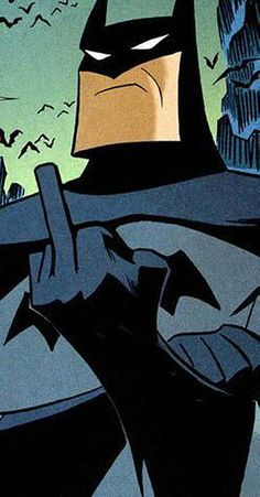 batman flipping the bird