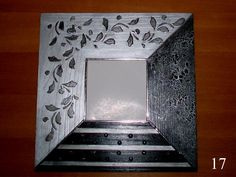 espejo malma ikea | Decorar tu casa es facilisimo.com Decoupage Box, Mirror Art, Potpourri, Pewter, Picture Frames, Ikea, Diy Projects, Creative, Stenciling