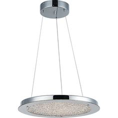 "Stardust 16""W Chrome and Crystal LED Pendant Light - #12H48 