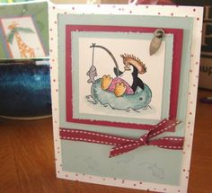 New Colors Penguin using Stampin Up Penguin Paradise.