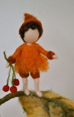 Autumn Gnome Waldorf inspired needle felted wall by MagicWool