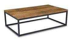 Moe's Home Collection Mountain Teak 47 x 28 Rectangular Natural Coffee Table