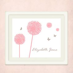 Personalized Name Art for a little girls room by pitterpatterpress, $20.00