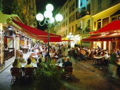 Open Air Cafes and Restaurants, Nice, Cote d'Azure, Provence, France, Europe Photographic Print by Walter Rawlings at Art.com