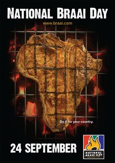 National Braai Day in South Africa - 24 September.a country to which gathering around a fire is serious!