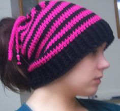 Hat pattern can be worn as slouch hat, cowl, or fold over beanie!  amazing.  Thanks, April Raven!