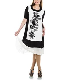 Look what I found on #zulily! Black Color Block Scoop Neck Shift Dress - Plus by La Mouette #zulilyfinds