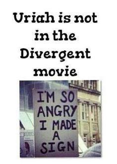 Uriah isn't in the Divergent movie Divergent Memes, Divergent Hunger Games, Divergent Fandom, Divergent Trilogy, Tris Prior, Divergent Insurgent Allegiant, Insurgent Quotes, Divergent Fanfiction, Nerd