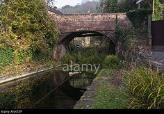 Shropshire Canal and Base of Hay Inclined Plane at Coalport Ironbridge Shropshire Stock Photo