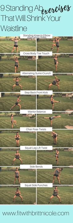Get a great ab workout without ever touching the floor! Here are 9 amazing stand… – All Time Viral