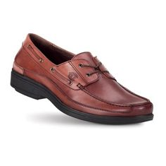 Men's Del Rey II Brown Casual Shoes from Gravity Defyer. The classic boat shoe and men's dress shoe.