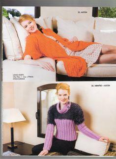 Ideas para el hogar: Colecciones de prendas en dos agujas y crochet
