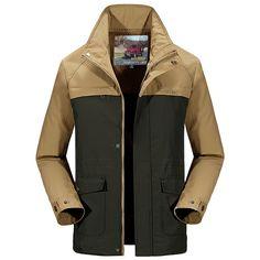 Sale 13% (59.99$) - senlin Jeep Mens Casual Hooded Detachable Windbreaker Thin Spring Autumn Travel Jacket Outdoor Coat