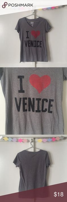 I Love Venice Tshirt 🇮🇹 Venice, CA or Venice, Italy? Your choice! Super comfy grey tee. Brand new with tags. Cotton/ Poly blend. Made in USA. Ladies Medium. Tops Tees - Short Sleeve