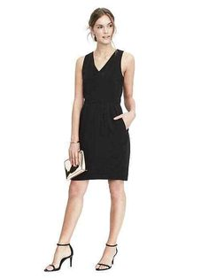 68ccc82f NWT Banana Republic Bow Back Dress Color Black Size 8P #480266 #fashion  #clothing