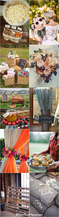 Rustic country fall wedding ideas / http://www.deerpearlflowers.com/autumn-fall-wedding-ideas/