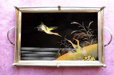 Style LAQUE JAPONAIS Ancien petit plateau verre peint oiseaux de mer, argenté | Céramiques, verres, Céramiques étrangères, Asiatiques | eBay!