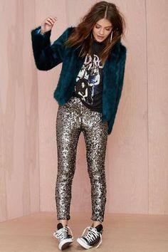 90217fa32f235 11 Ways to Make Sequin Pants Look (Very) Cool