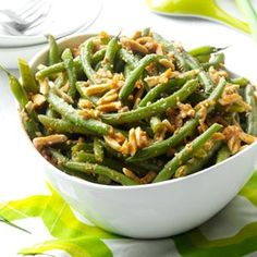 Buttery Almond Green Beans Recipe from Taste of Home