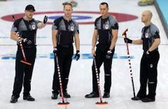 Olympic men's curling fun facts for the final.Brad Jacobs, Ryan Fry, EJ Harnden, Ryan Harnden and Caleb Flaxey Winter Olympics 2014, Winter Games, Olympians, Curling, Olympic Games, Figure Skating, Great Britain, Athlete, Winter