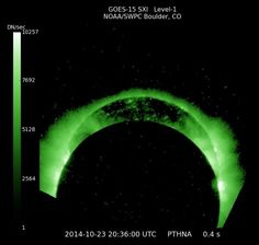 For Space weather followers, this is eclipse from NOAA GOES 15 SXI. GOES West. SXI= Solar X-ray Imager.  Via our friend Kelly Schenk on Facebook.  Thanks, Kelly.