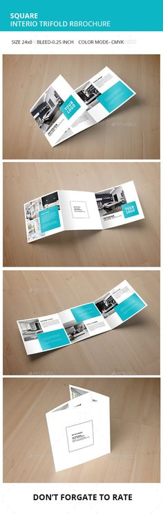 Square Interior Trifold Brochure Template. Download: http://graphicriver.net/item/square-interior-trifold-brochure/11277551?ref=ksioks