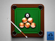 Billiard Icon (free .psd)
