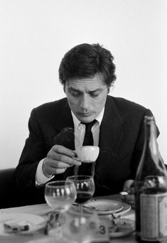 """Happy Birthday to Mr Alain Delon! * having coffee on the set of """"Le Clan des Siciliens"""" /""""The Sicilian Clan"""", 1969 Happy Birthday to Mr Alain Delon! * having coffee on the set of """"Le Clan des Siciliens"""" /""""The Sicilian Clan"""", 1969 Alain Delon, Coffee Drinks, Coffee Cups, Coffee Shop, Coffee Maker, Le Clan Des Siciliens, People Drinking Coffee, In Vino Veritas, We Are The World"""
