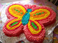 butterfly cake--this would be so cute for a birthday party Butterfly Birthday Cakes, Butterfly Cakes, Butterflies, Rainbow Butterfly, Butterfly Party, Birthday Fun, 1st Birthday Parties, Cake Birthday, Birthday Ideas