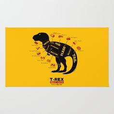 Dino Deli Area & Throw Rug