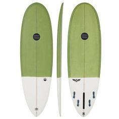 Maluku Shortboards - Maluku Flying Frog Eco 5 Fin - Green/white