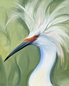 1000 images about egret on pinterest blue heron herons for White heron paint