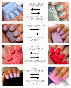 Metropolitan Musings: Spring Nails 2014 Visit our online store here Spring Nails 2014, Summer Nails, Spring 2014, Spring Summer, New Nail Colors, Nail Polish Colors, Essie Colors, Sns Colors, Cute Nails
