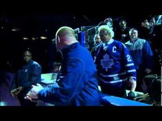 Commander Chris Hadfield (@Cmdr_Hadfield) drops the puck from the International Space Station for the ceremonial face off at the Leafs Home Opener. - short video