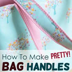 See how to make diy purse handles. Prettier, sturdier, and so easy you'll never want to sew your bag straps any other way! See how to make bag handles - easy and beautiful! Bag Pattern Free, Bag Patterns To Sew, Tote Pattern, Sewing Patterns, Handbag Patterns, Best Tote Bags, Diy Tote Bag, Diy Purse Handles, Fabric Bags