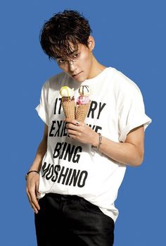 Sungjoo, looking entirely too seductive holding an ice cream cone.