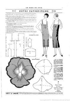 La Mode du jour. 1925/6/11 1920's dress