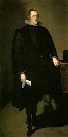 Philip IV  c. 1624-27 (90 Kb); Oil on canvas, 210 x 102 cm (82 3/4 x 40 1/8 in); Museo del Prado, Madrid