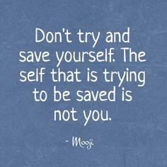 The wisdom of Mooji - Saving