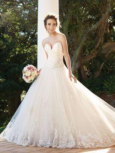 Glamorous Ball Gown Taffeta & Tulle Sweetheart Sleeveless Floor Length Wedding Dresses