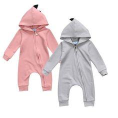 3fc8fc8445ac Autumn Dinosaur Newborn Baby Boy Girl Long Sleeve Zipper Romper Jumpsuit Outfits  Clothes Costume Cute Newborn