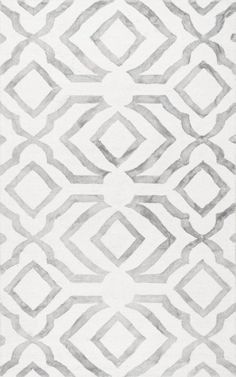 Hand Looped Baggett Light Grey by NuLOOM (domino)
