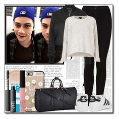 """""""Airport with Dylan"""" by ana-a-m ❤ liked on Polyvore featuring Topshop, Casetify, Louis Vuitton, Maybelline, adidas Originals and NARS Cosmetics"""