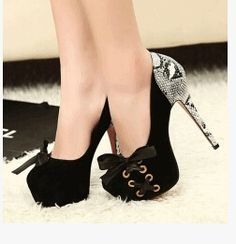 79.90$  Watch now - http://ali3gy.worldwells.pw/go.php?t=32237515589 - Free Shipping Customize 31-33 43 42 Small Size Women Pumps Serpentine pattern bow shallow mouth ultra high heels strappy shoes 2