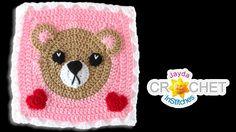 Teddy bear blanket square    for February of calender monthly blanket