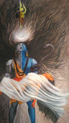 Shiva before the Tandava with dead Sati in his arms. Shiva Tandav, Rudra Shiva, Lord Krishna Wallpapers, Lord Shiva Hd Wallpaper, Angry Lord Shiva, Aghori Shiva, Lord Shiva Hd Images, Lord Shiva Painting, Krishna Painting